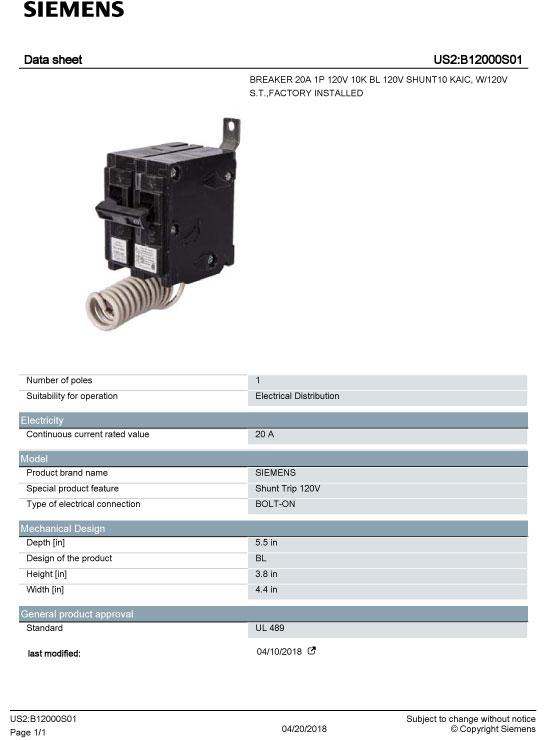 b12000s01  siemens circuit breaker magtrol distributors inc