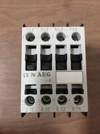 the front of an AEG LS7K-4-A contactor