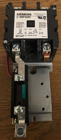 the front of a SIEMENS-FURNAS 16DF15AF8 definite purpose magnetic motor starter