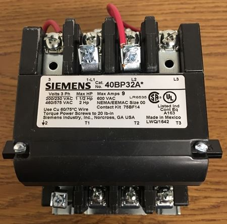 Image of the front of a SIEMENS-FURNAS 40BP32AC contactor