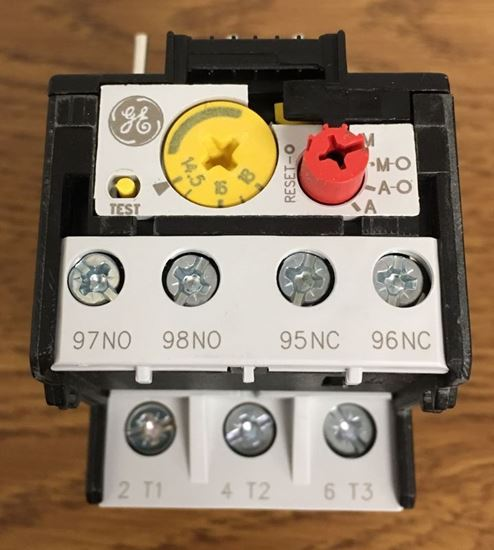 Top view of a GE RT1S overload relay