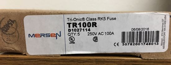 a box of Mersen TR100R fuses