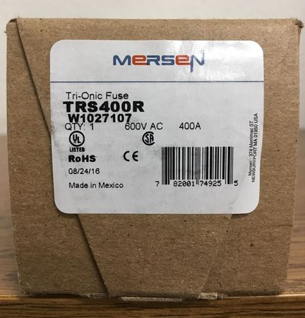 Image of the box of a Mersen TRS400R fuse