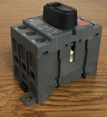 the angle of an ABB OT25F3 General Purpose Switch