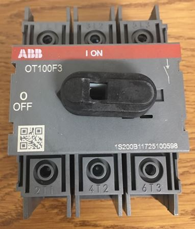 Image of the top of an ABB OT100F3 General Purpose Switch