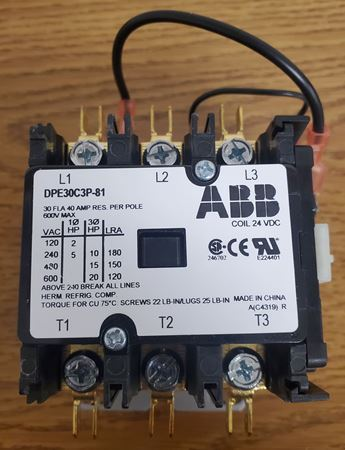 Picture of DPE30C3P-81 - ABB Contactor