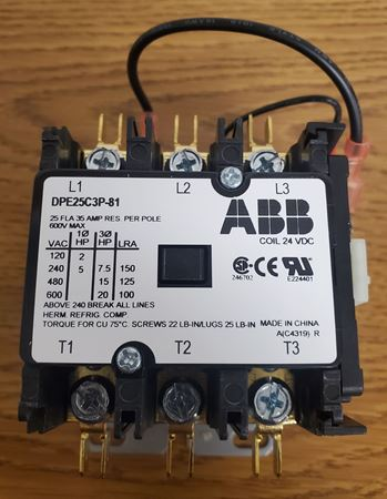 Picture of DPE25C3P-81 - ABB Contactor