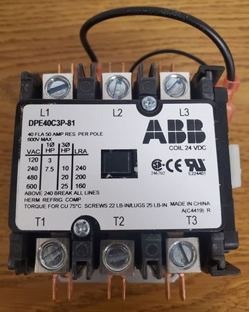 Picture of DPE40C3P-81 - ABB Contactor
