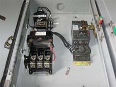 GE combo starter for industrial power systems
